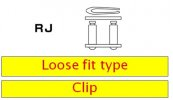 Clip type connecting link D.I.D Chain 520ERT2 RJ Gold/Gold