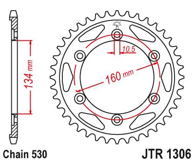 JT Sprockets JTR1306.41 41T Steel Rear Sprocket
